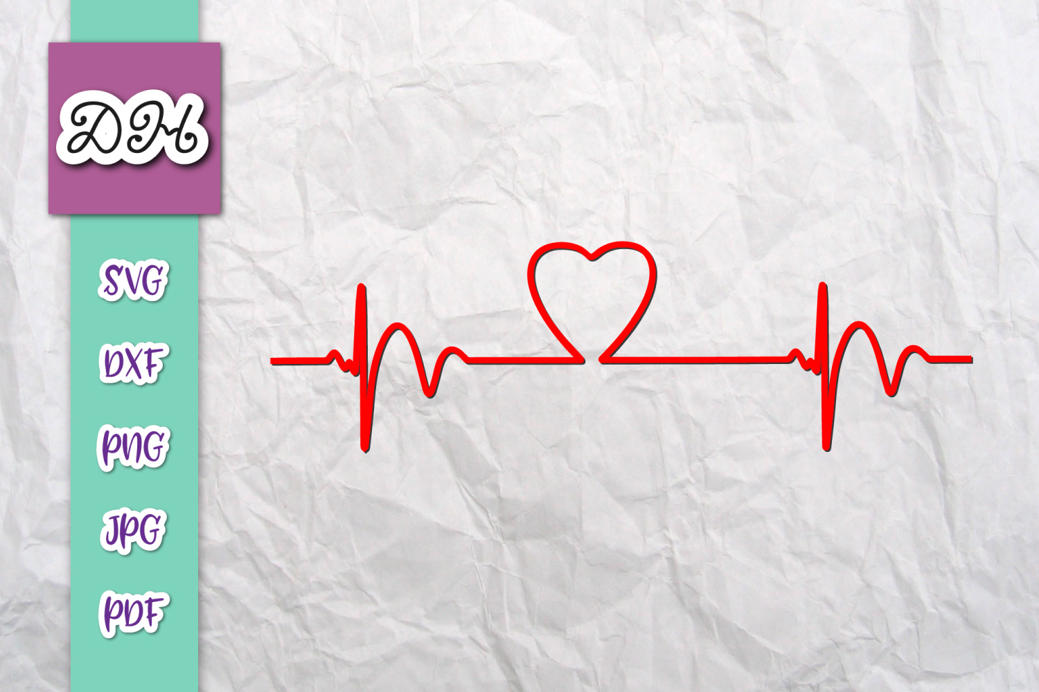 Download Free Heartbeat Clipart Ekg Monitor Print Grafik Von Digitals By Hanna for Cricut Explore, Silhouette and other cutting machines.