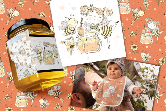 Honey Family Graphic Illustrations By grigaola - Image 2