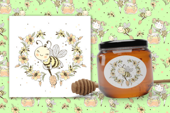 Honey Family Graphic Illustrations By grigaola - Image 3