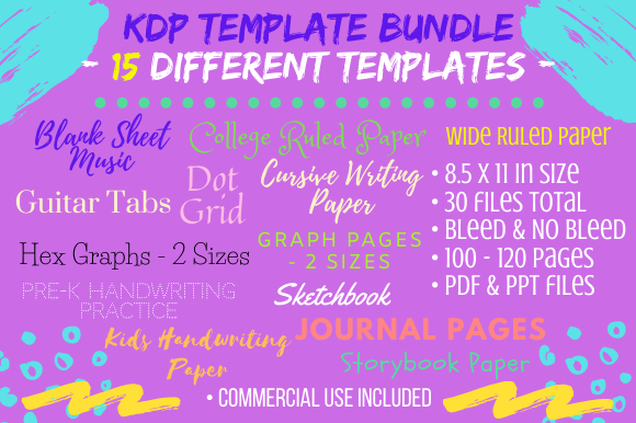 Print on Demand: KDP Interiors - 15 Interiors Big Bundle Graphic KDP Interiors By Tomboy Designs