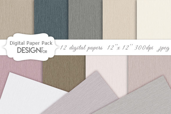 Download Free Linen Digital Paper Pack Nature Color Graphic By Designitfor for Cricut Explore, Silhouette and other cutting machines.