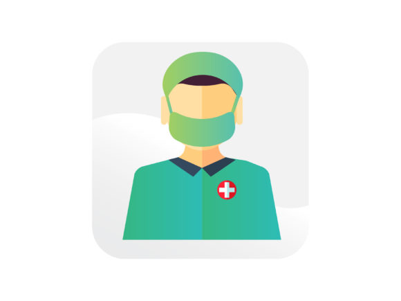 Download Free Male Nurse With Mask Icon Graphic By Samagata Creative Fabrica for Cricut Explore, Silhouette and other cutting machines.