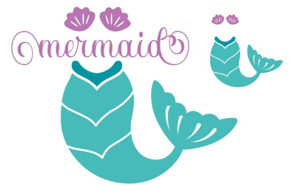 Download Free Mermaid Tail Monogram Circle Letters Graphic By Typography SVG Cut Files