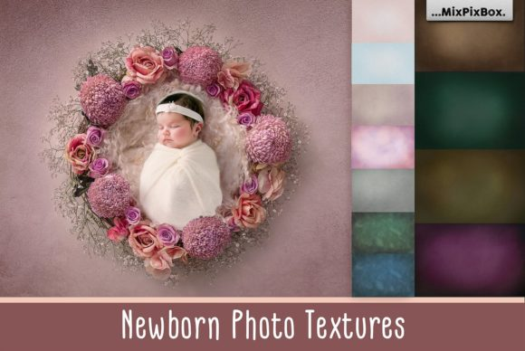Print on Demand: Newborn Photo Textures Graphic Layer Styles By MixPixBox