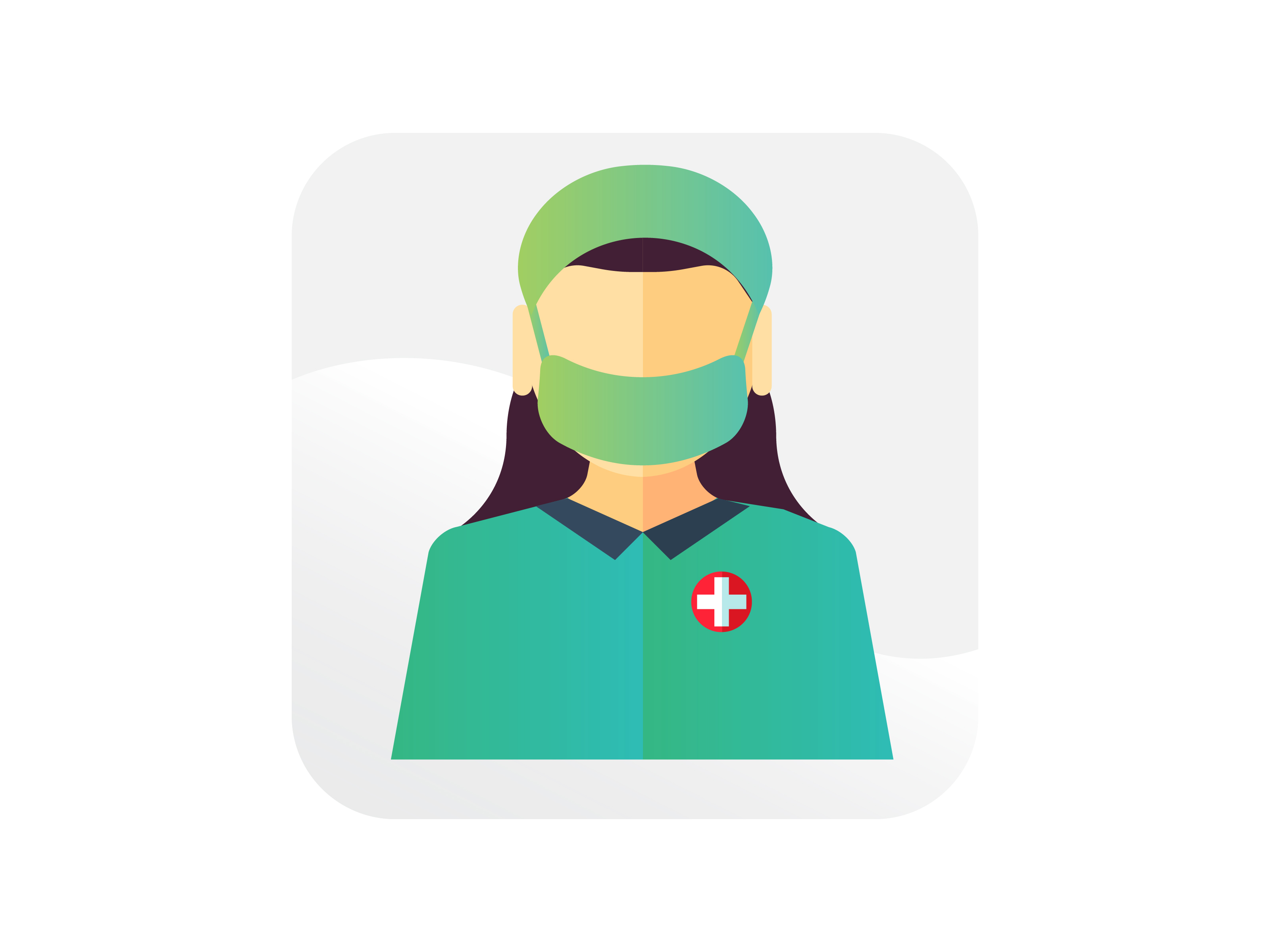 Download Free Nurse With Mask Icon Graphic By Samagata Creative Fabrica for Cricut Explore, Silhouette and other cutting machines.