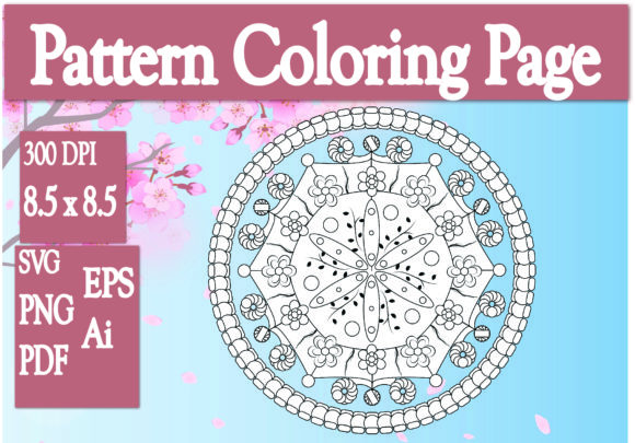 Print on Demand: Pattern Coloring Page Graphic KDP Interiors By Ivana Prue