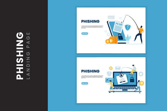Download Free Phishing Attack Illustration Concept Grafico Por H12 Creative SVG Cut Files