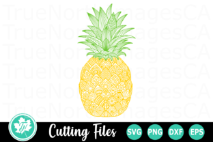 Download Free Pineapple A Zentangle Graphic By Truenorthimagesca Creative for Cricut Explore, Silhouette and other cutting machines.