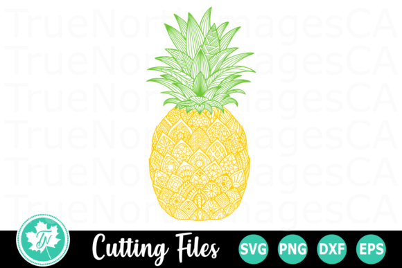 Pineapple - a Zentangle Graphic Crafts By TrueNorthImagesCA