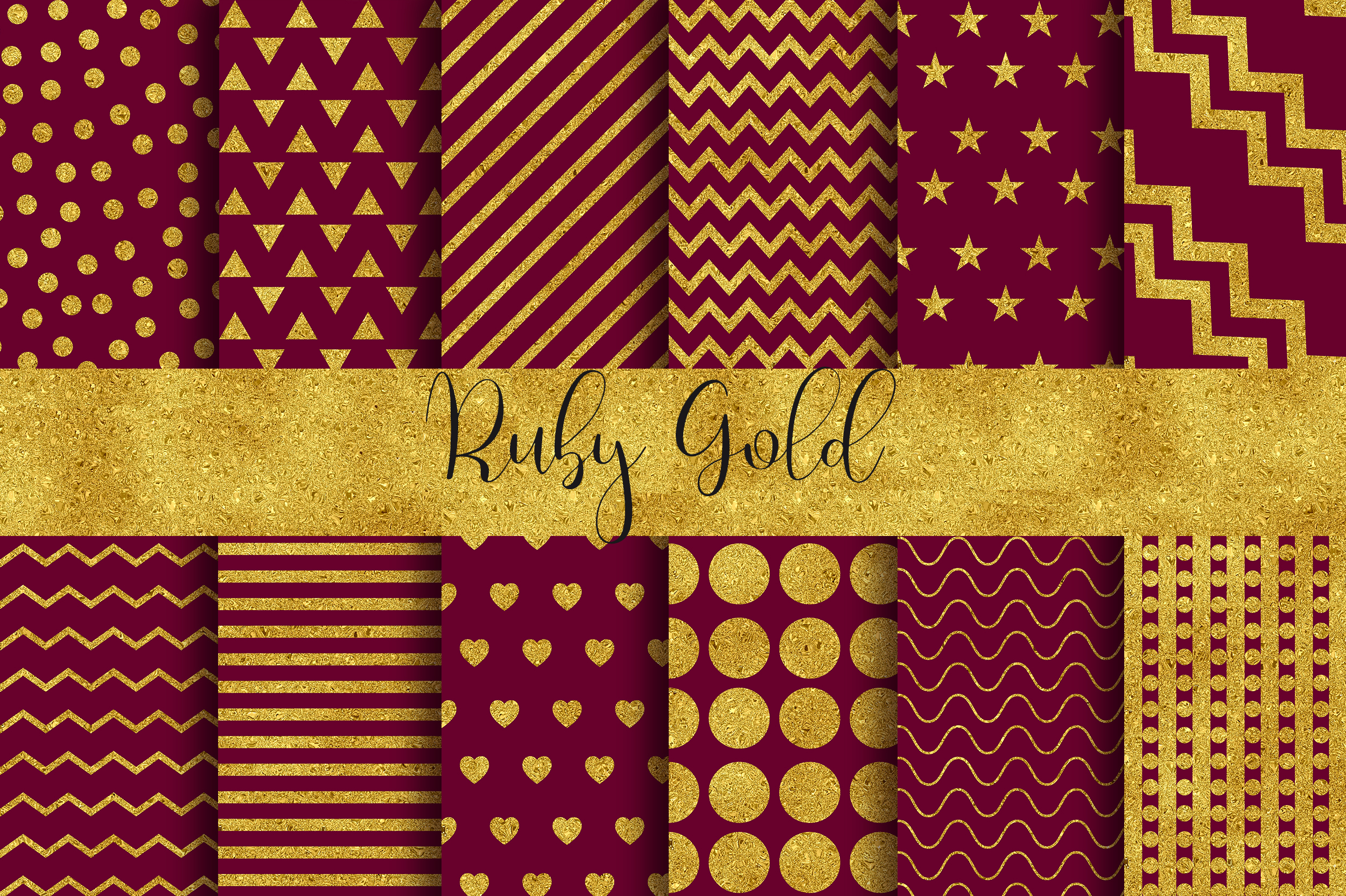 Download Free Ruby Gold Background Digital Papers Graphic By Pinkpearly for Cricut Explore, Silhouette and other cutting machines.
