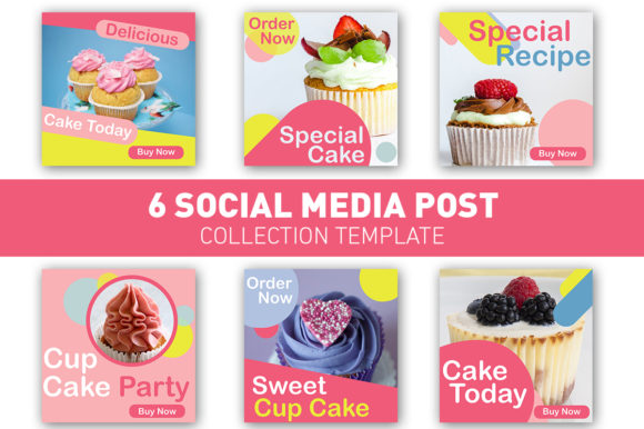 Download Free Social Media Post Cup Cake Colourful Graphic By Ant Project for Cricut Explore, Silhouette and other cutting machines.