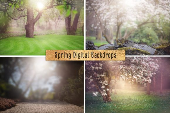 Print on Demand: Spring Digital Backdrop Graphic Layer Styles By MixPixBox