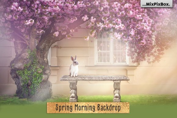 Print on Demand: Spring Morning Backdrop Graphic Layer Styles By MixPixBox
