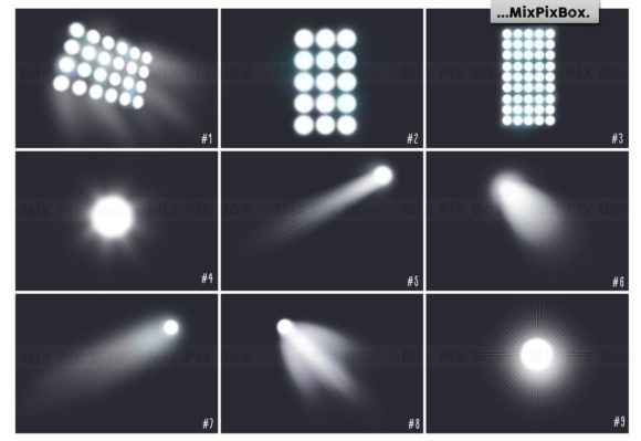 Print on Demand: Stadium Lights Overlays + Backdrops Graphic Layer Styles By MixPixBox - Image 2