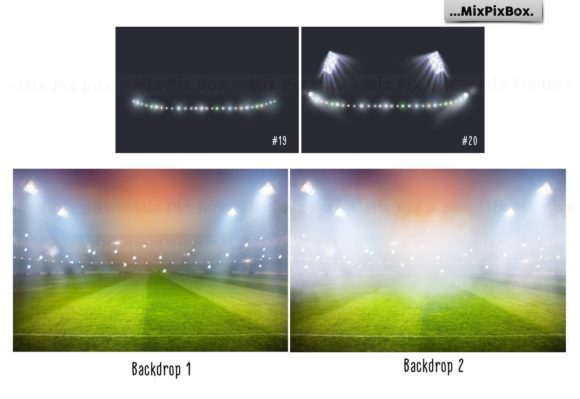 Print on Demand: Stadium Lights Overlays + Backdrops Graphic Layer Styles By MixPixBox - Image 4