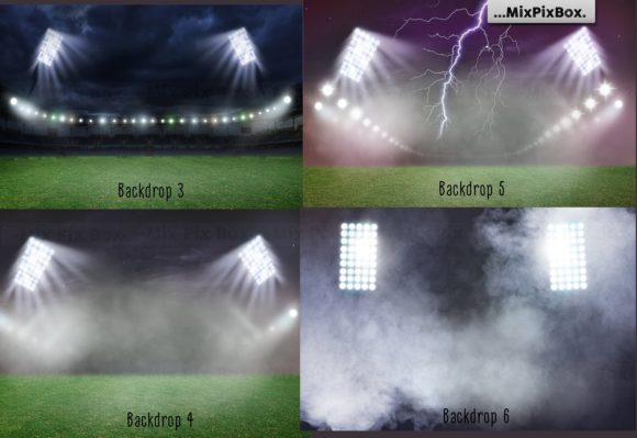 Print on Demand: Stadium Lights Overlays + Backdrops Graphic Layer Styles By MixPixBox - Image 5