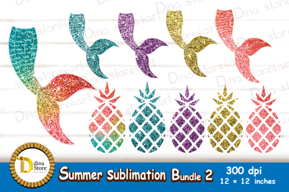 Print on Demand: Summer Sublimation Bundle 2 Graphic Graphic Crafts By dina.store4art