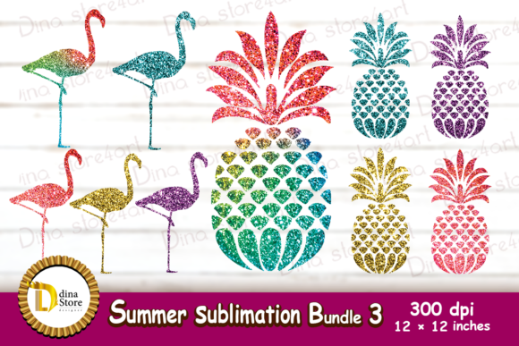 Print on Demand: Summer Sublimation Bundle 3 Graphic Crafts By dina.store4art