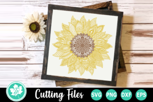 Download Free Sunflower A Zentangle Graphic By Truenorthimagesca Creative for Cricut Explore, Silhouette and other cutting machines.