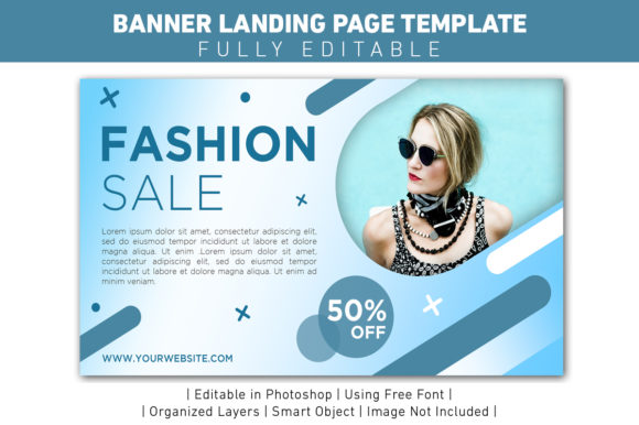 Download Free Banner Blue Modern Sale Template Design Graphic By Ant Project for Cricut Explore, Silhouette and other cutting machines.