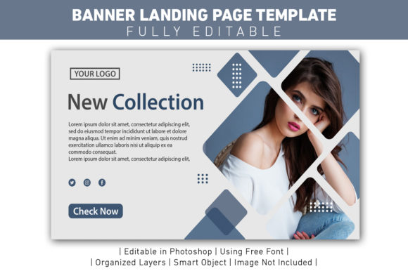 Banner New Collection Clean and Modern Graphic Web Templates By ant project template