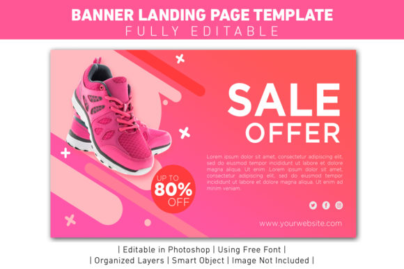 Banner Sale Offer Violet Modern Template Graphic Web Templates By ant project template