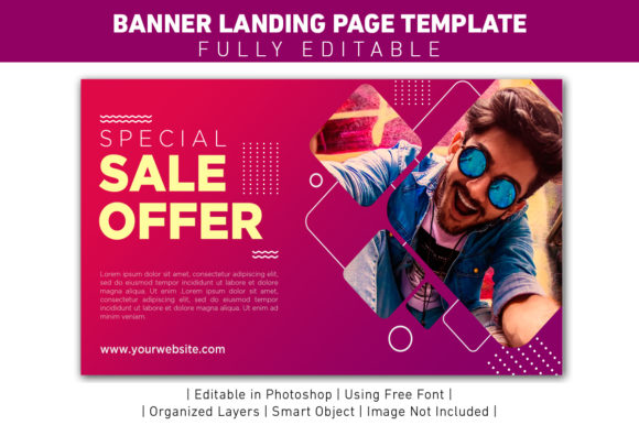 Banner Sale Offer Violet Template Graphic Web Templates By ant project template