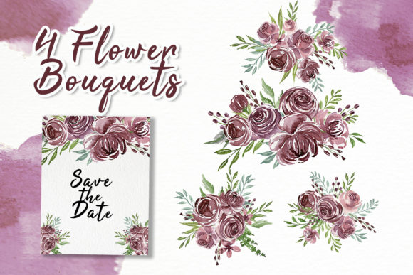 Print on Demand: Flower Purple Watercolor Illustration Graphic Illustrations By OrchidArt - Image 2