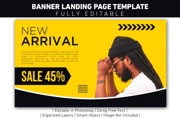 Download Free New Arrival Banner Yellow Sale Graphic By Ant Project Template for Cricut Explore, Silhouette and other cutting machines.