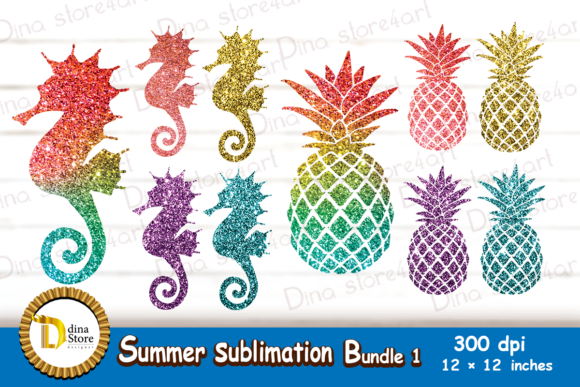 Print on Demand: Summer Sublimation Bundle 1 Graphic Crafts By dina.store4art