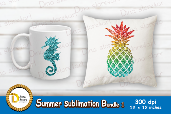 Download Free Summer Sublimation Bundle1 Grafico Por Dina Store4art Creative for Cricut Explore, Silhouette and other cutting machines.