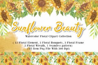 Print on Demand: Sunflower Beauty Watercolor Illustration Graphic Illustrations By OrchidArt 1