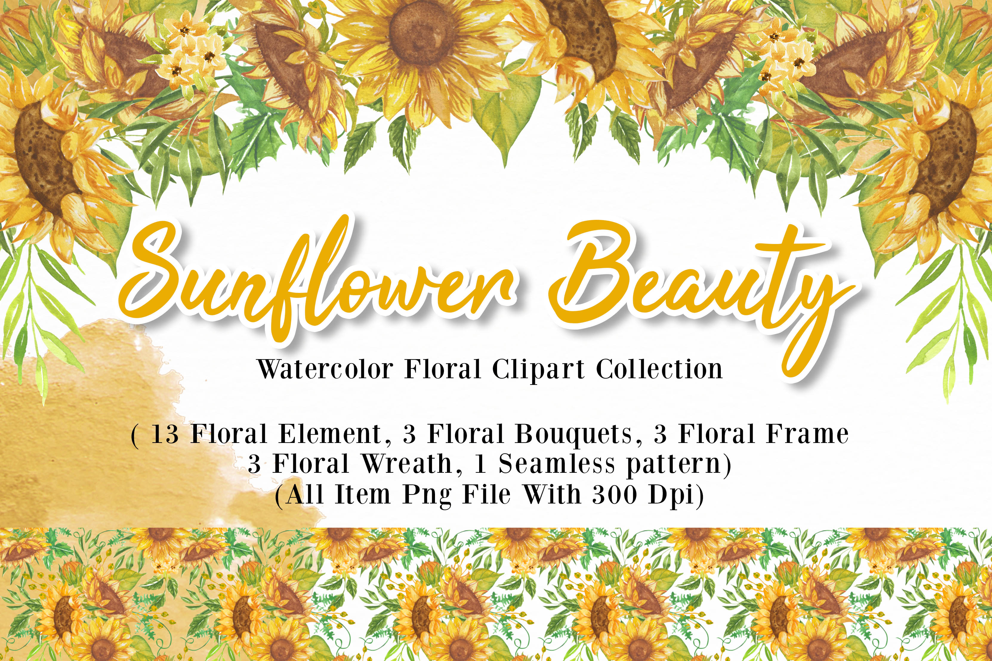 Download Free Sunflower Beauty Watercolor Illustration Graphic By Orchidart for Cricut Explore, Silhouette and other cutting machines.