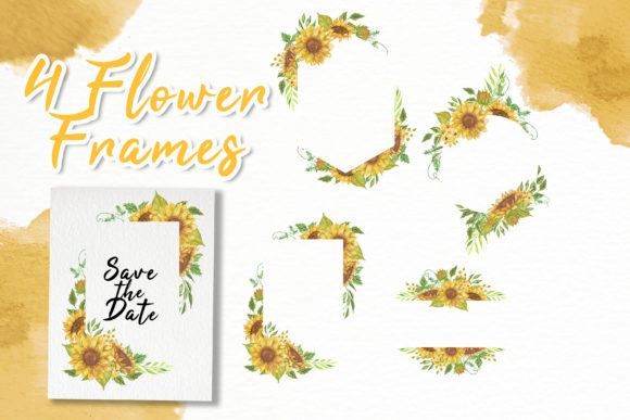 Print on Demand: Sunflower Beauty Watercolor Illustration Graphic Illustrations By OrchidArt - Image 3