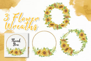 Print on Demand: Sunflower Beauty Watercolor Illustration Graphic Illustrations By OrchidArt 4