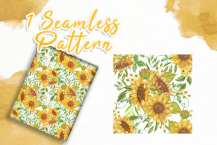Print on Demand: Sunflower Beauty Watercolor Illustration Graphic Illustrations By OrchidArt 5