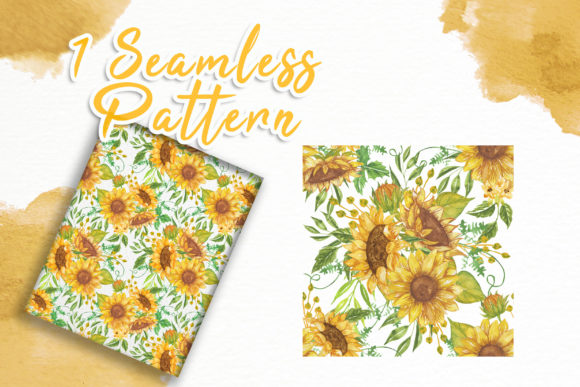 Print on Demand: Sunflower Beauty Watercolor Illustration Graphic Illustrations By OrchidArt - Image 5
