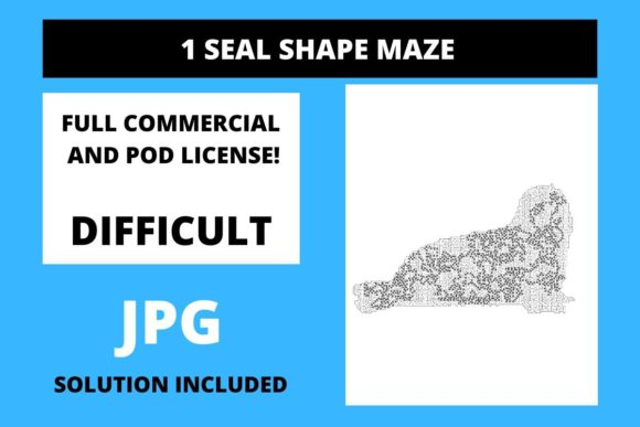 Print on Demand: 1 Seal Shaped Maze with Solution Graphic 12th grade By Fleur de Tango
