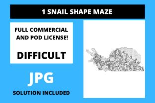Print on Demand: 1 Snail Shaped Maze with Solution Graphic 12th grade By Fleur de Tango