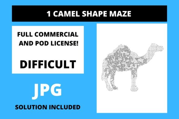 Print on Demand: 1 Camel Shaped Maze with Solution Graphic Teaching Materials By Fleur de Tango