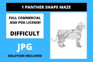 Print on Demand: 1 Panther Shaped Maze with Solution Graphic 11th grade By Fleur de Tango