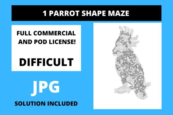 Print on Demand: 1 Parrot Shaped Maze with Solution Graphic Teaching Materials By Fleur de Tango