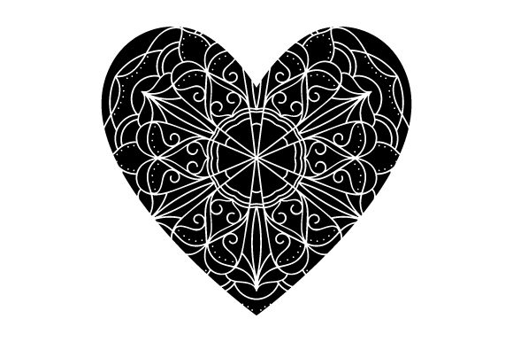 Download Free Heart Mandala Svg Cut File By Creative Fabrica Crafts Creative for Cricut Explore, Silhouette and other cutting machines.