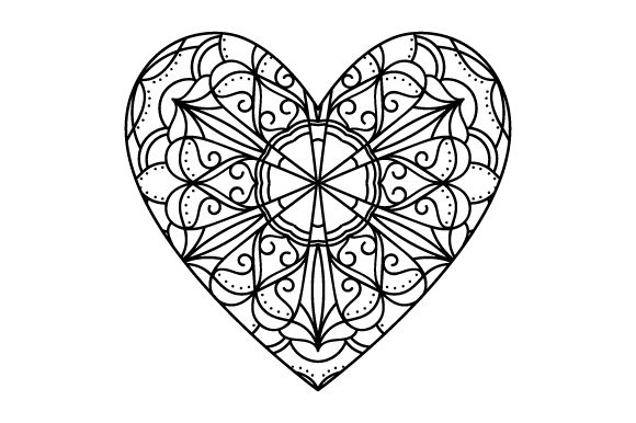 Heart Mandala Mandalas Craft Cut File By Creative Fabrica Crafts