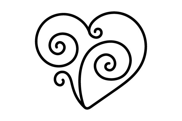Download Free Heart Swirl Svg Cut File By Creative Fabrica Crafts Creative for Cricut Explore, Silhouette and other cutting machines.
