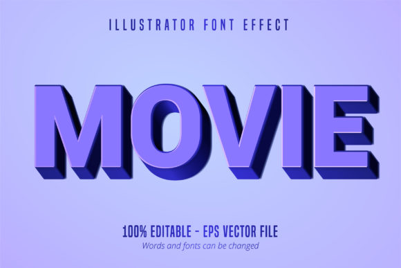Download Free 3d Blue Typeface Old Movie Font Effect Graphic By Mustafa Beksen for Cricut Explore, Silhouette and other cutting machines.