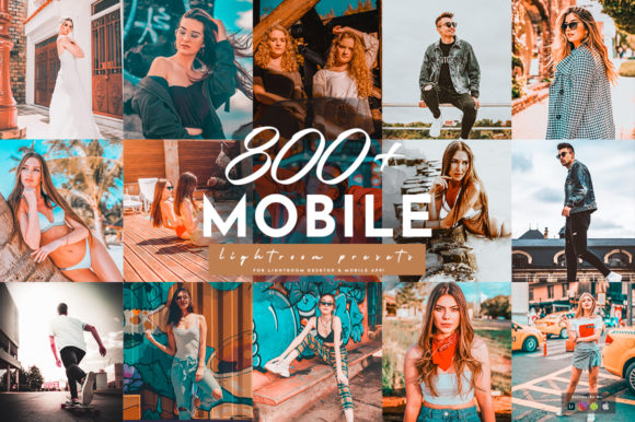 Print on Demand: 800+ Lightroom Mobile Presets Pack Graphic Actions & Presets By pixelhivepro
