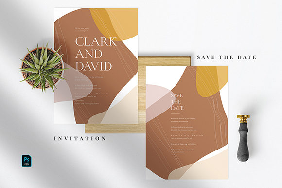 Download Free Abstract Wedding Invitation Suite Graphic By Azka Creative for Cricut Explore, Silhouette and other cutting machines.