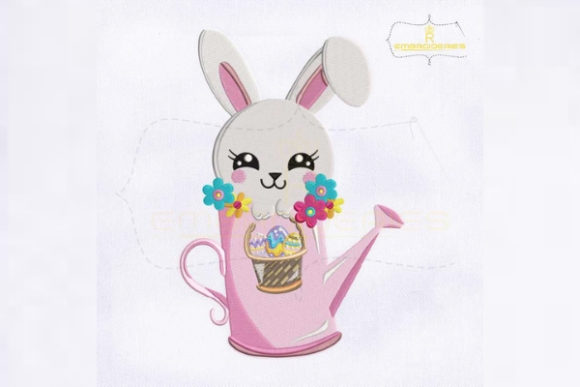 Adorable Easter Rabbit Easter Embroidery Design By RoyalEmbroideries
