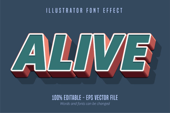Print on Demand: Alive Text, Editable Text Style Graphic Graphic Templates By Mustafa Bekşen